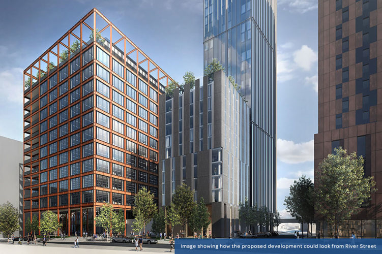 New residential tower planned for First Street Development Zone in Central Manchester